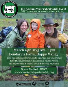 Rock Creek Watershed Wide Event 2015 Flyer